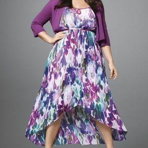 Sleeveless high-low maxi dress  (no cardigan)